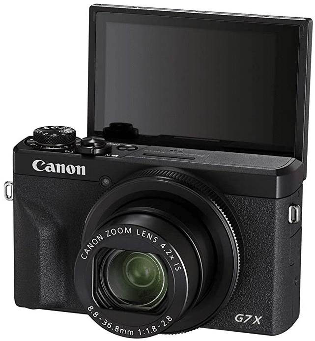 Canon Powershot with flip screen and zoom lens