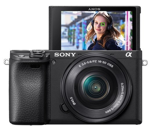 Sony Alpha a600 4k video camera with 16-50mm Lens