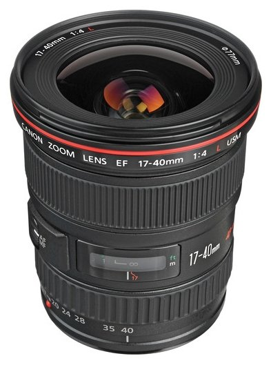 The Canon EF 17-40mm lens for Canon EOS D80 camera