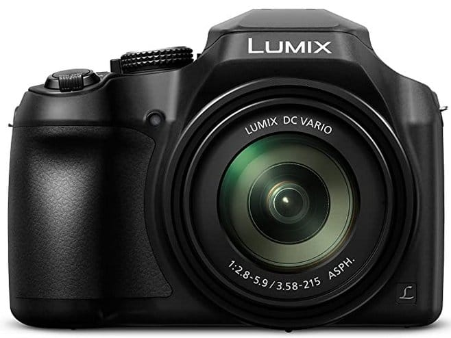 Lumix video camera with zoom and wi-fi