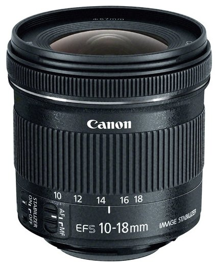 Canon EF-S 10-18mm STM Lens with wide angle zoom