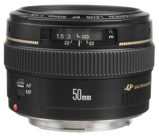 Canon EF 50mm USM lens for Canon EOS 80D
