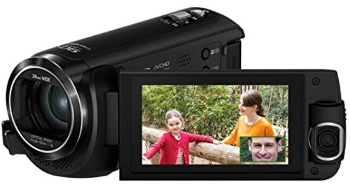 camcorder for recording sports with twin camera
