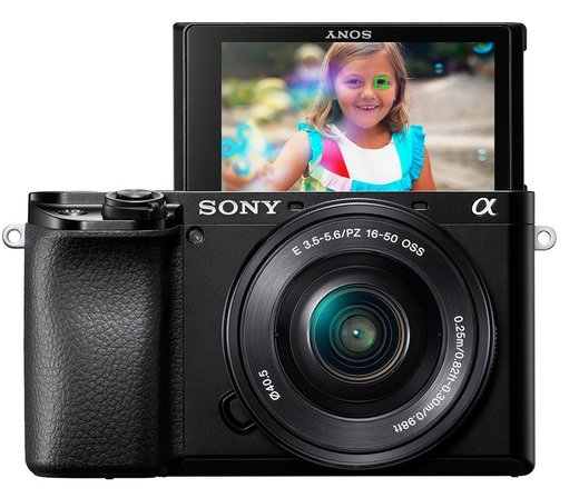Sony Alpha camera with 16-50mm zoom lens
